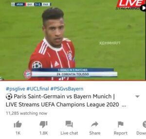 PSG-Bayern streaming