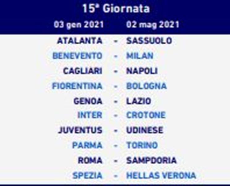GIORNATA 15