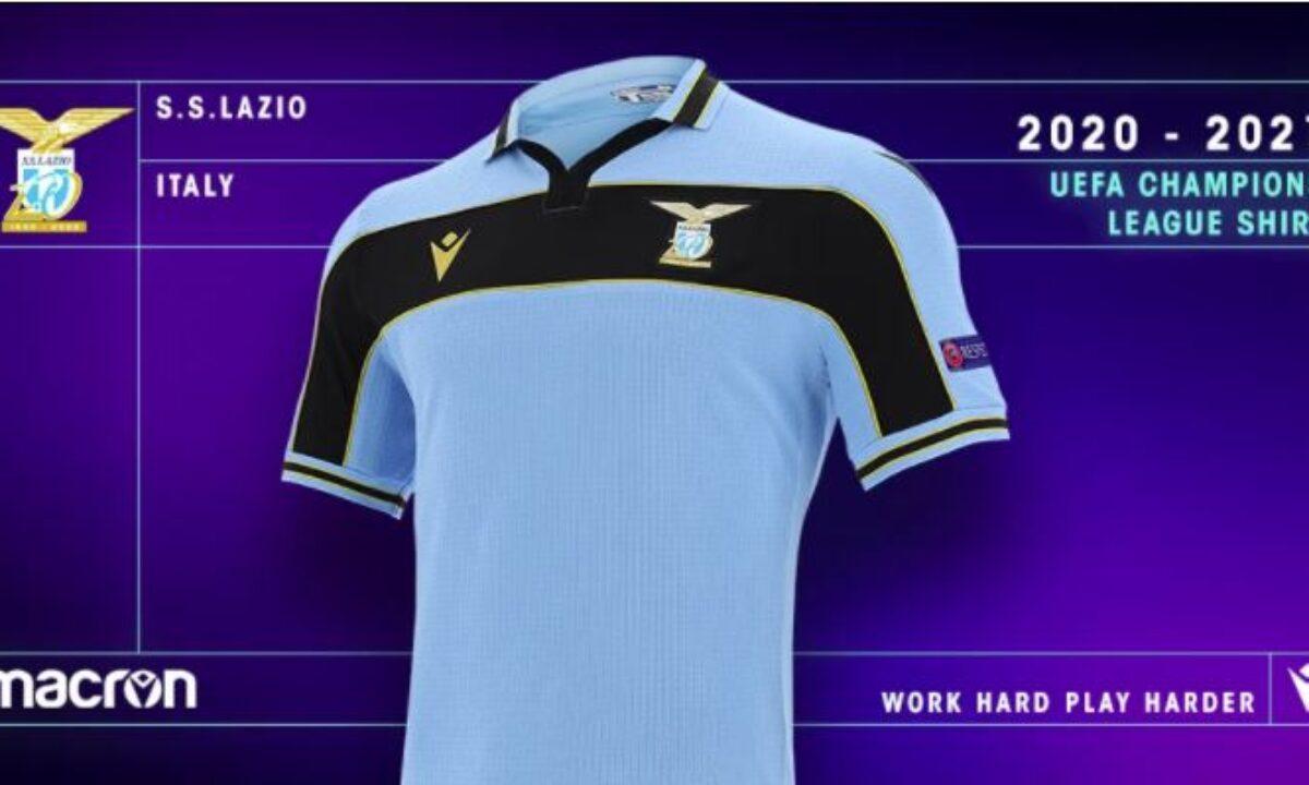 Lazio, presentata la nuova maglia per le partite di Champions ...