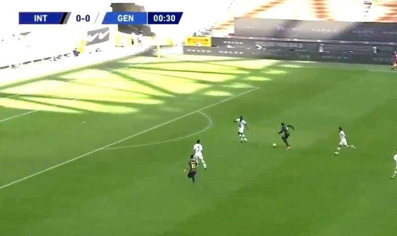 Inter-Genoa |  il gol di Lukaku dopo 30 secondi |  il belga è devastante VIDEO