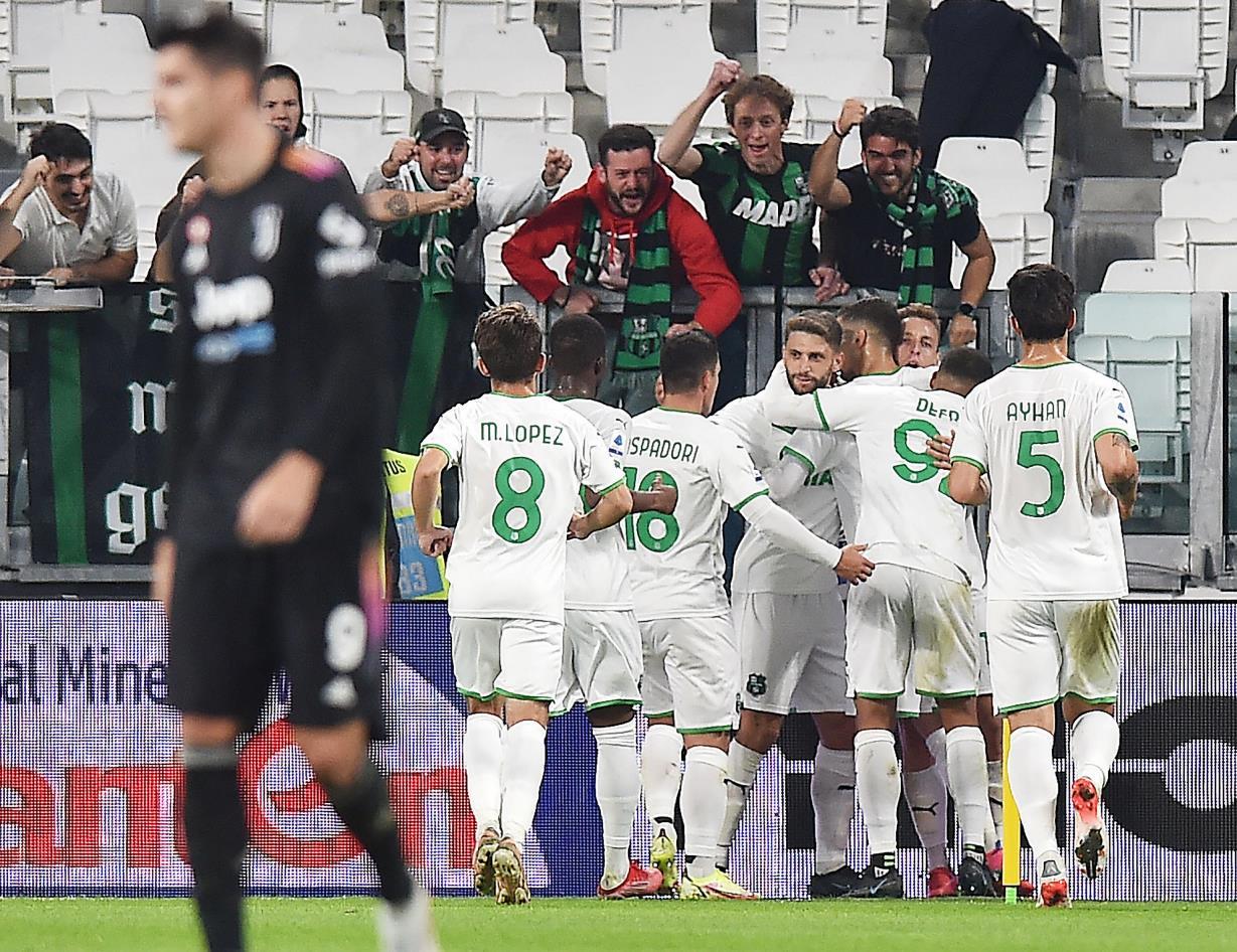 Debacle della Juventus, sconfitta pesantissima in casa contro il Sassuolo