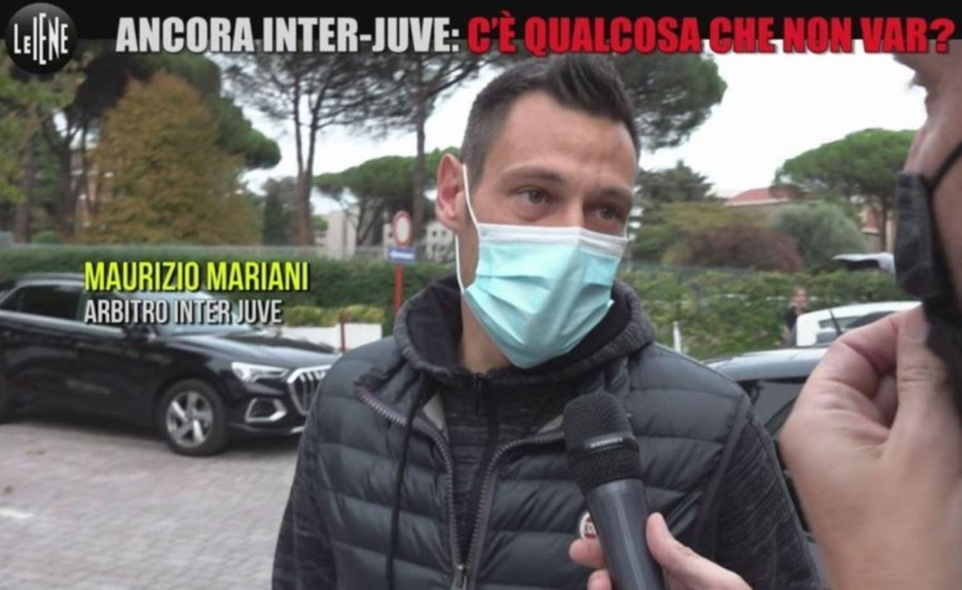 Polemiche sul rigore di Inter Juventus: l'arbitro Mariani (non) risponde così a Le Iene